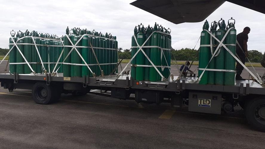 Hospital de Guarnição de Tabatinga recebe 200 cilindros de oxigênio do Governo do Amazonas