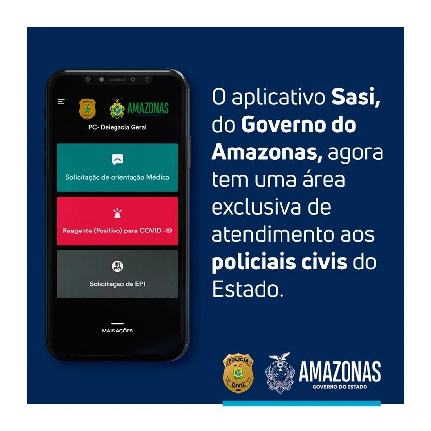 Policiais civis têm aplicativo para acompanhamento médico e agendamento de testes de Covid-19