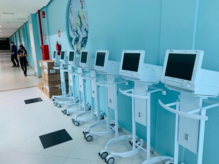 Hospital Nilton Lins recebe novos respiradores