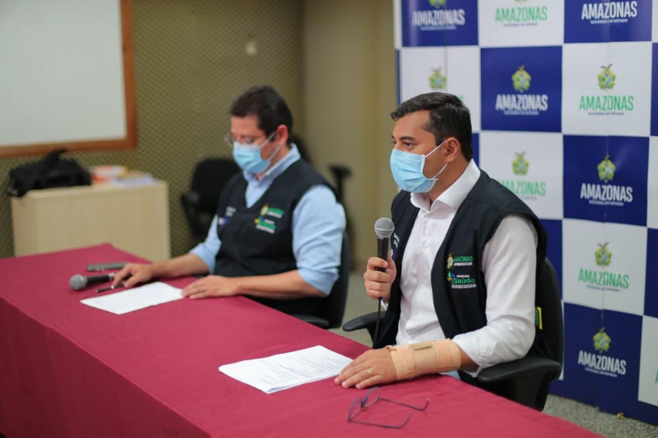 Wilson Lima anuncia que idosos acima de 75 anos e pessoal da saúde são prioridade na vacinação com a AstraZeneca