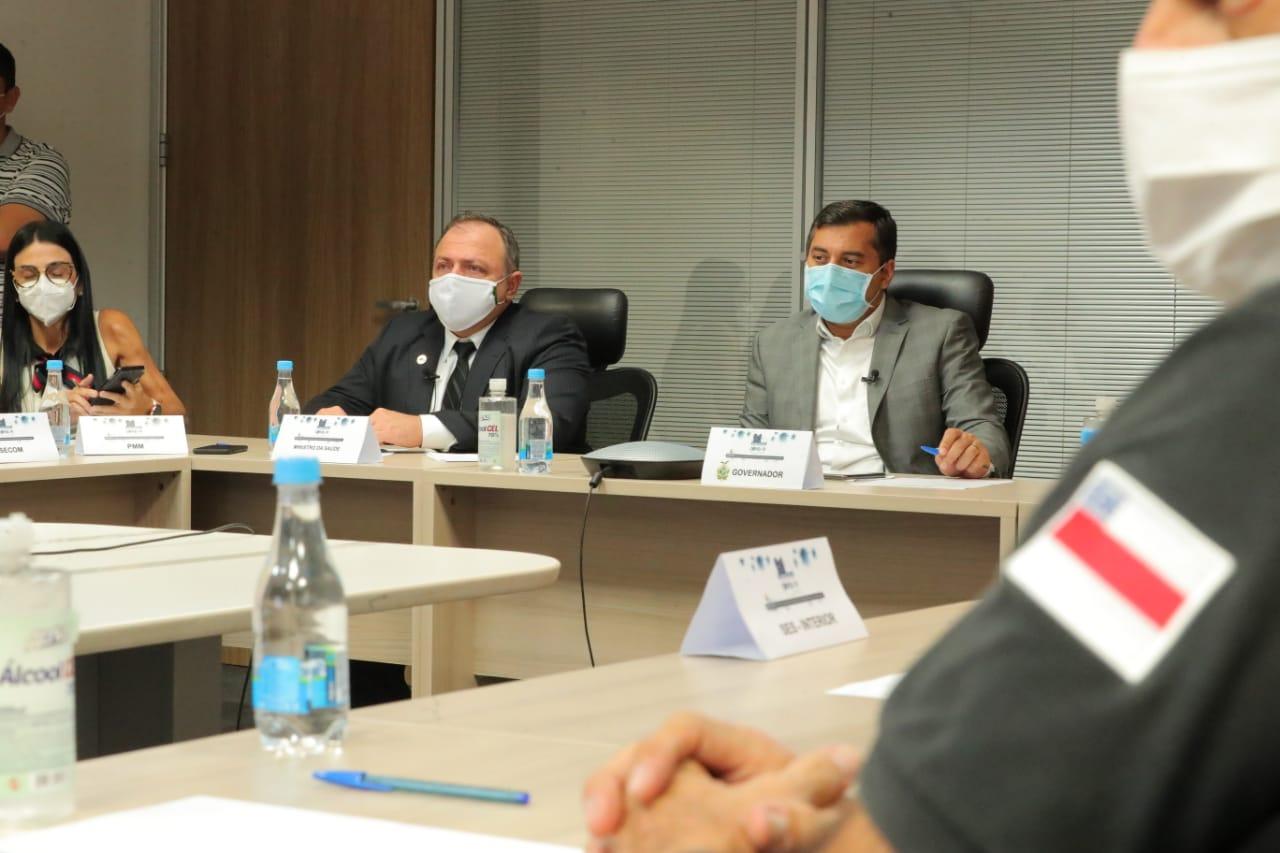 Wilson Lima e ministro Pazuello anunciam que Amazonas inicia Plano de Aceleração de Vacinação da Amazônia