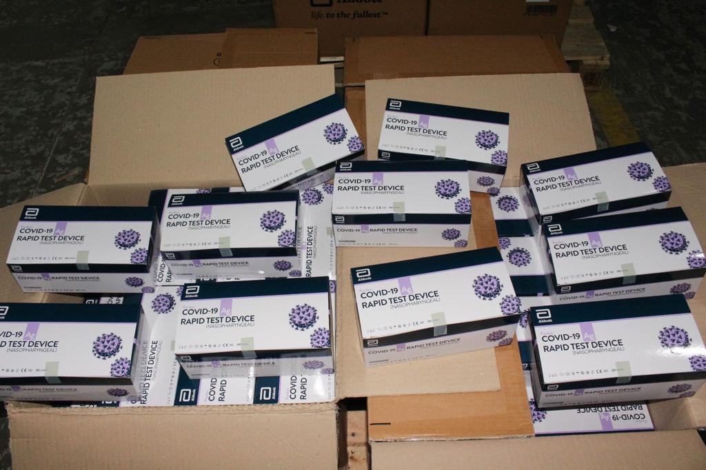 Mais 60 mil testes rápidos de Covid-19 chegam ao estado nesta semana