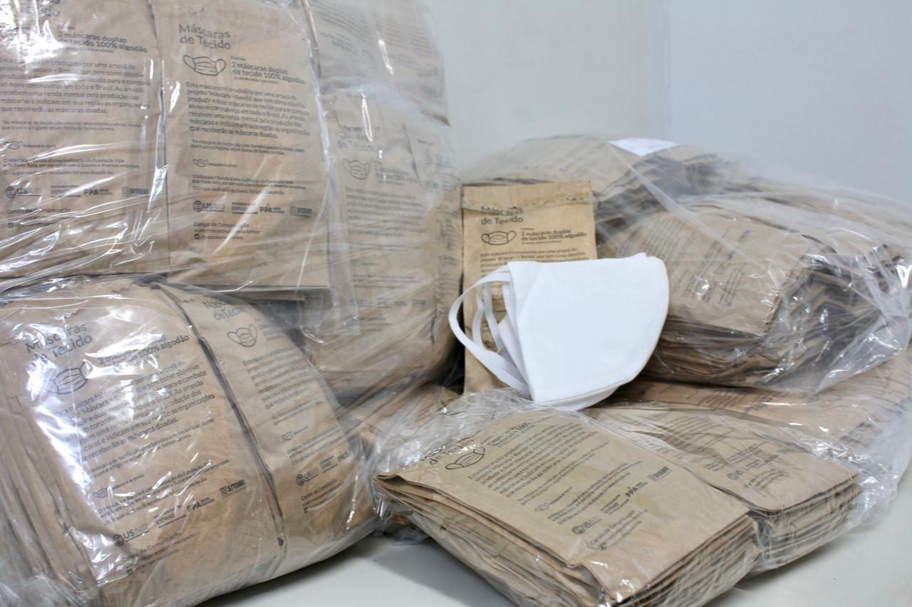 Sejusc recebe mil máscaras de pano para população em situação de rua que será atendida em abrigo emergencial