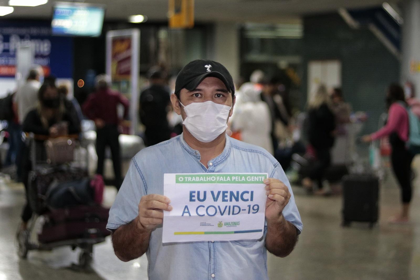 Mais dois pacientes retornam ao Amazonas após vencerem a Covid-19
