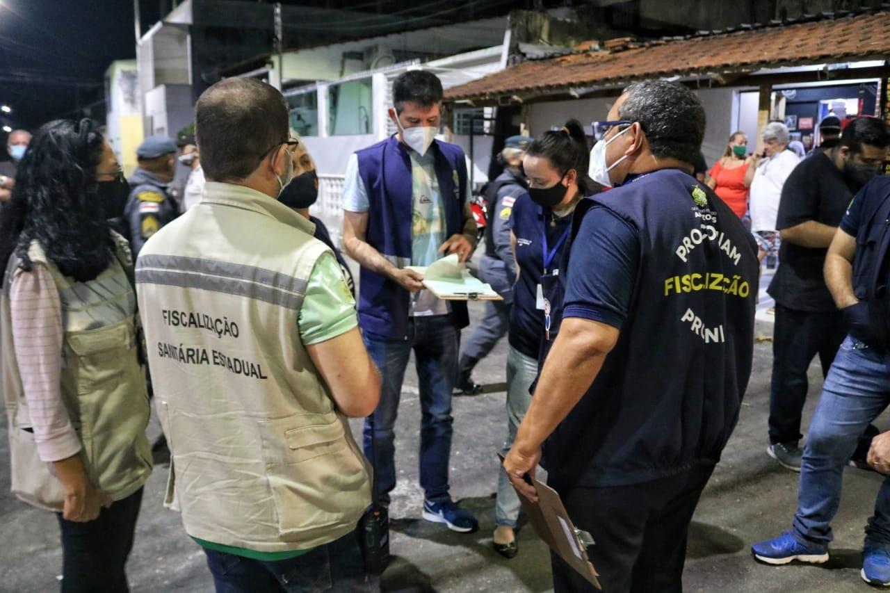Central de Fiscalização autua estabelecimentos e apreende embarcações por descumprimento de decreto