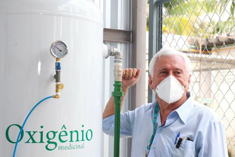 Fundação de Medicina Tropical passa a contar com miniusina de oxigênio com capacidade de 17 metros cúbicos por hora