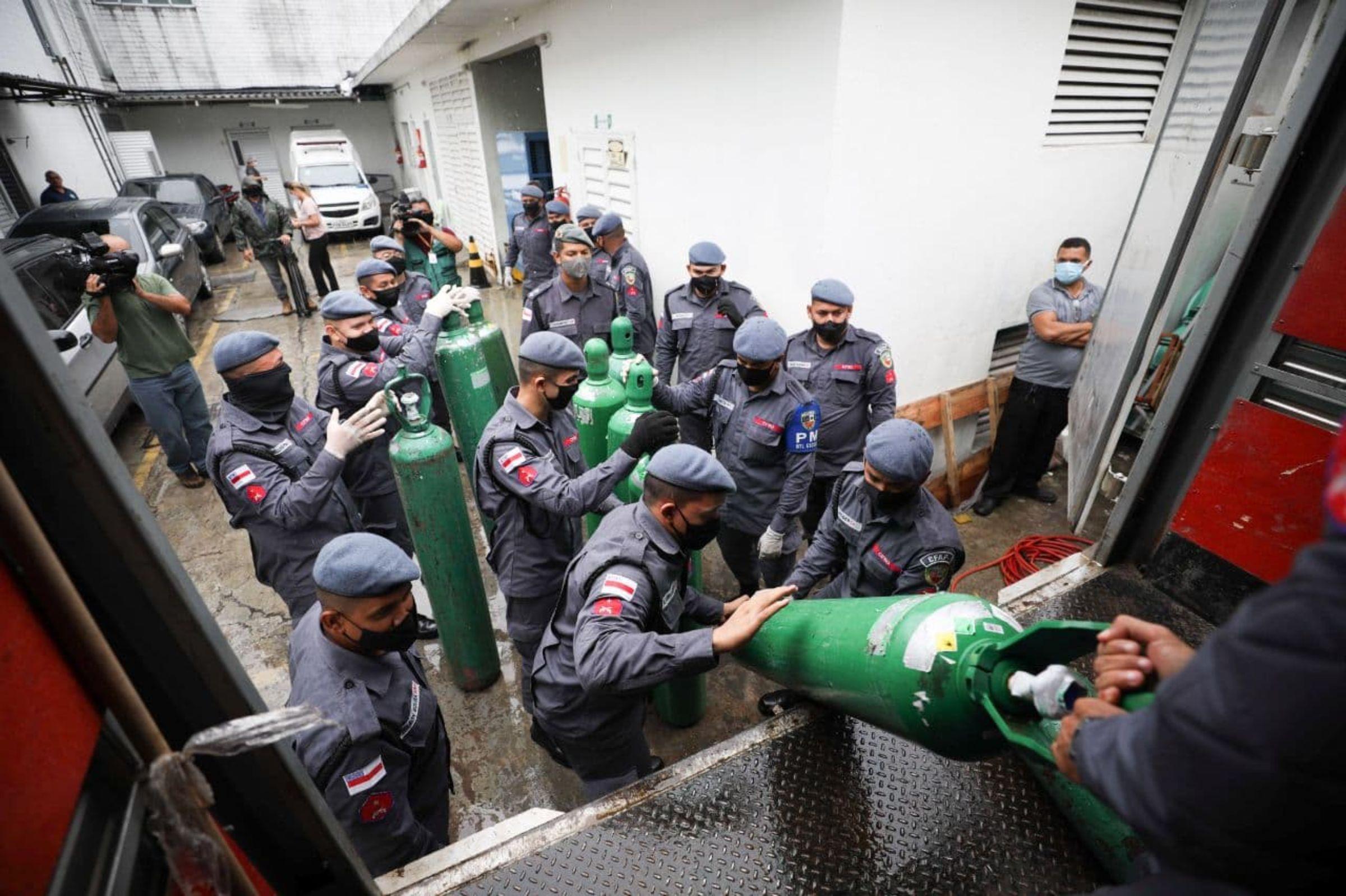 'Operação Gratidão': Governo do Amazonas vai enviar parte de cilindros recebidos de doações para outros estados